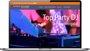 Webseite Top-Party-DJ Tommy Weigold